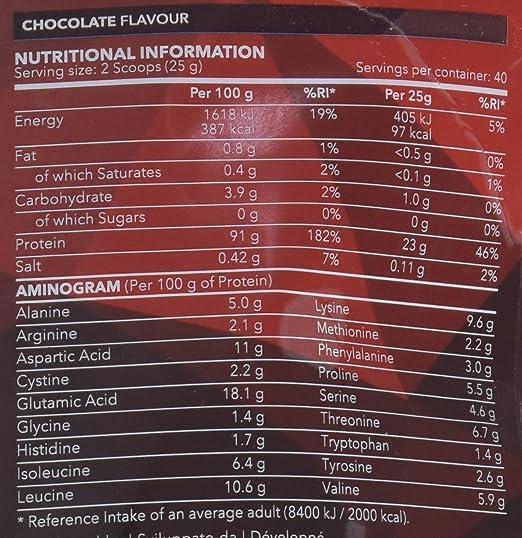 Prozis 100% Real Whey Isolate Protein - Proteína con Sabor a Chocolate para Pérdida de Peso, Recuperación Muscular y Culturismo, 1kg, 40 Dosis: Amazon.es: ...