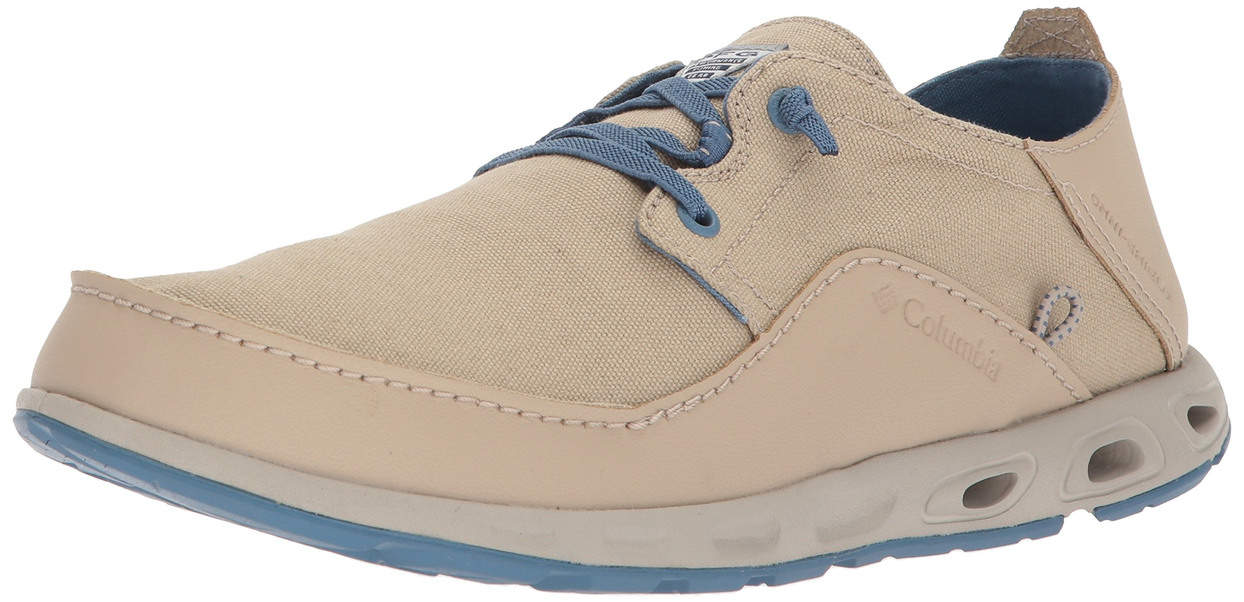 Columbia PFG Men's Bahama Vent Relaxed PFG Boat Shoe, Ancient Fossil, Steel, 7
