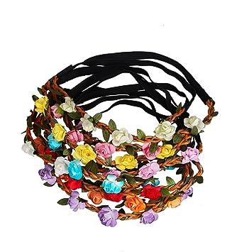 sumolux pcs coronas de flores diadema de flores adorno de pelo accesorio para cabeza girnalda