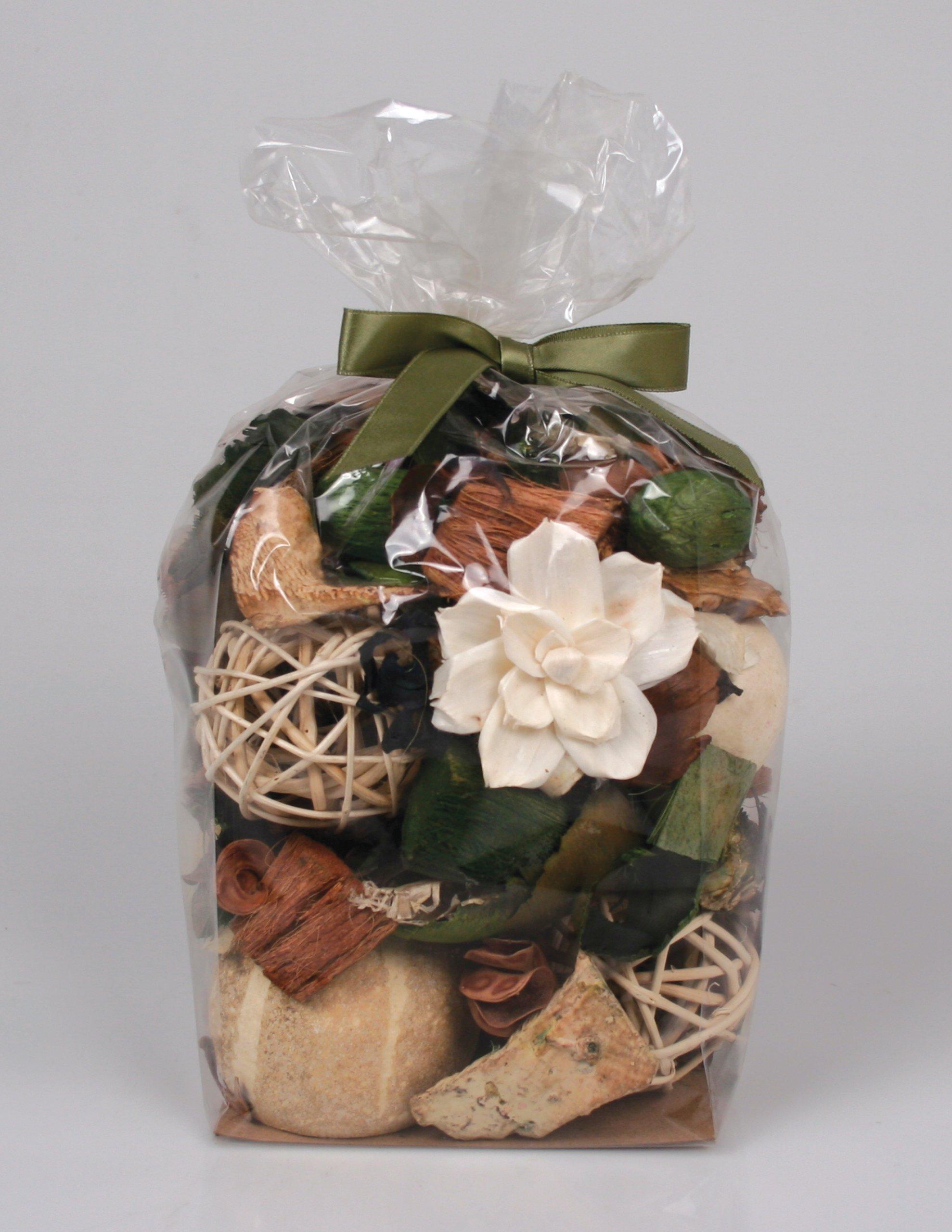 Jodhpuri Natural Gardenia Scented Potpourri – Fragrance Botanical Mix for Your Bathroom, Living Room, & Office – Includes Tahitian Gardenia, Jasmine, Tuberose, Green Leaves - 12 Oz