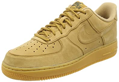 new concept fd8a0 c5b40 Nike Herren Air Force 1  07 Wb Fitnessschuhe Mehrfarbig Flax Gum Light  Brown