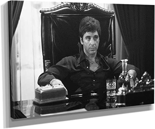 Scarface Al Pacino Movie Painting Canvas Print Art Home Decor Wall 60in x 40in Gallery Wrapped