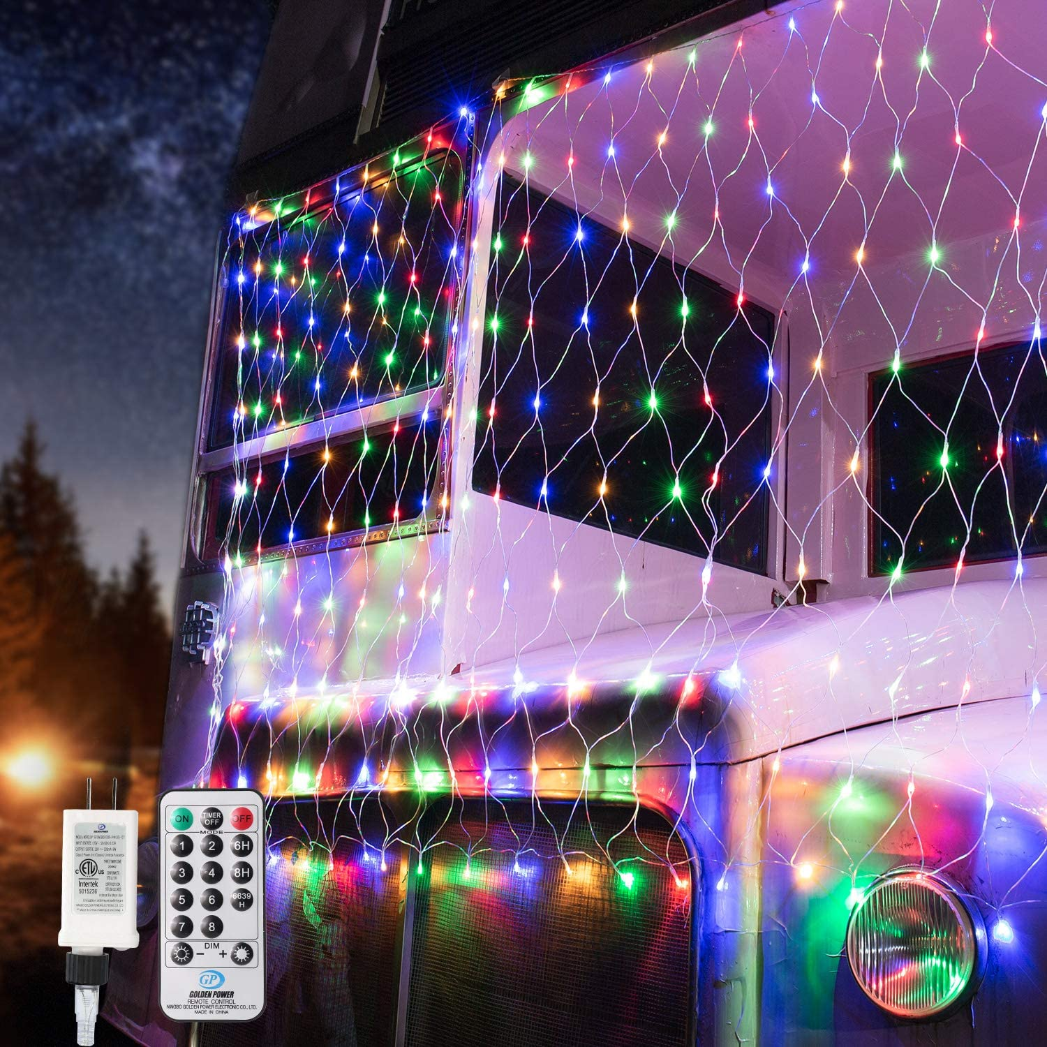 BrizLabs Christmas Net Lights Multicolor, 11.8ft x 4.9ft 360 LED Mesh String Lights with Remote, 8 Modes Connectable Bush Net String Lights, Plug in Xmas Lights for Trees Garden Outdoor Indoor Decor