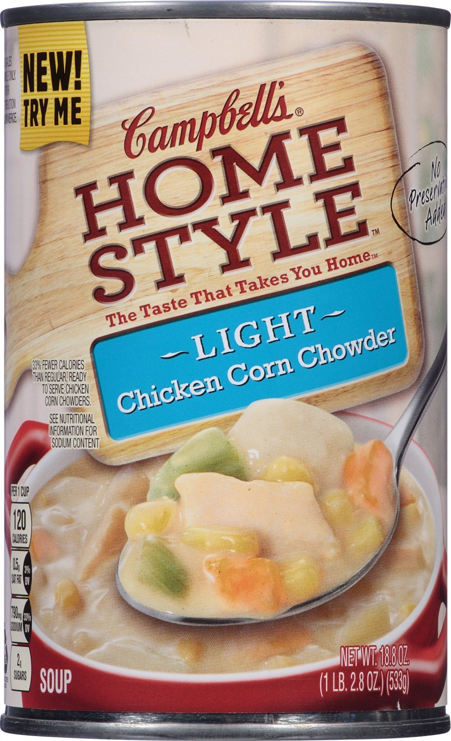 Amazon.com : Campbells Homestyle Light Soup, Chicken Corn Chowder, 18.8 Ounce : Grocery & Gourmet Food