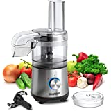 SHARDOR 3.5-Cup Food Processor Vegetable Chopper for Chopping, Pureeing, Mixing, Shredding and Slicing, 350 Watts with 2…