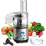 SHARDOR 3.5-Cup Food Processor 350 Watts Vegetable Chopper for Chopping, Pureeing, Shredding and Slicing, 2 Speeds Plus…
