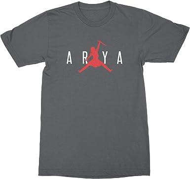 cáncer Pigmalión Ajustamiento  Amazon.com: Camiseta Arya Stark Jordan Arya Stark Not Today, XL: Clothing