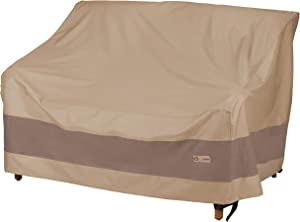 Duck Covers Elegant Water-Resistant 60 Inch Patio Loveseat Cover