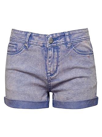 d68aeedc64 Amazon.com: Maddie Girls' Big Acid Wash Denim Shorts: Clothing