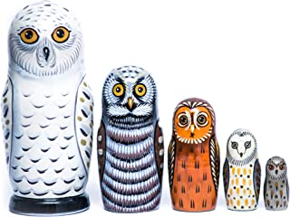 Owls Nesting dolls - Russian nesting dolls for kids - Owl wooden toy - Montessori toy - Handmade wooden gift