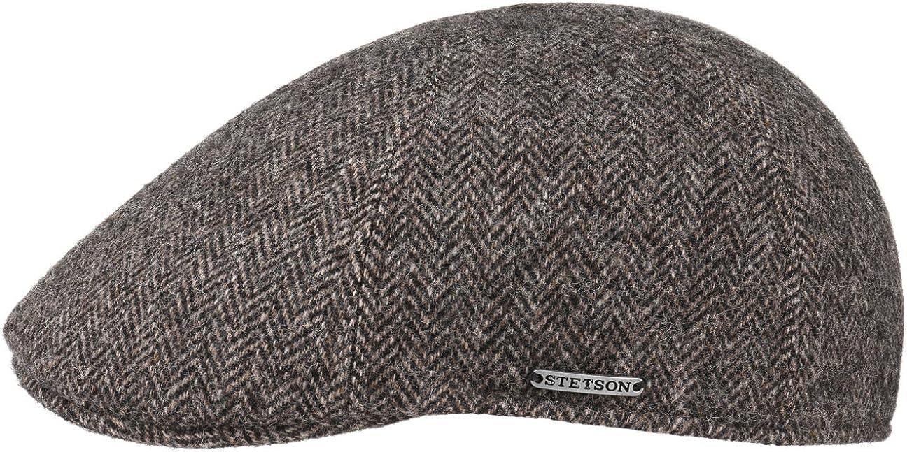 Stetson Gorra Texas Wool Herringbone Hombre - Made in The EU de Invierno Lana con Visera, Forro otoño/Invierno