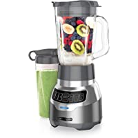 BLACK+DECKER PowerCrush Digital Blender with New Quiet Technology, 6 Cup, Silver, BL1300DGC-P
