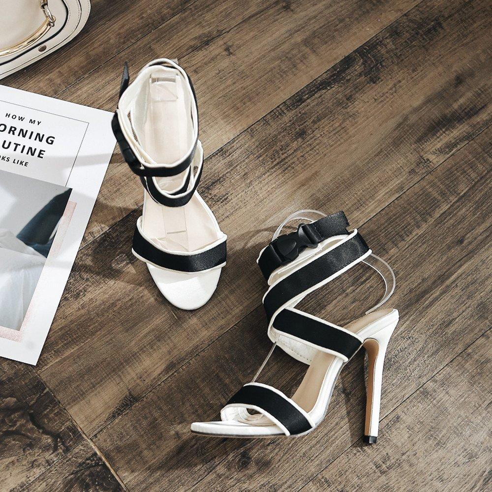 Sandalias Mujer Verano 2019 Manadlian Sandalias De Tac/ón De Aguja Impresas para Mujer Cuero Plano Pedrer/ía Beige Moda Mujer Zapatos De Cu/ña De Verano De Gran Tama/ño