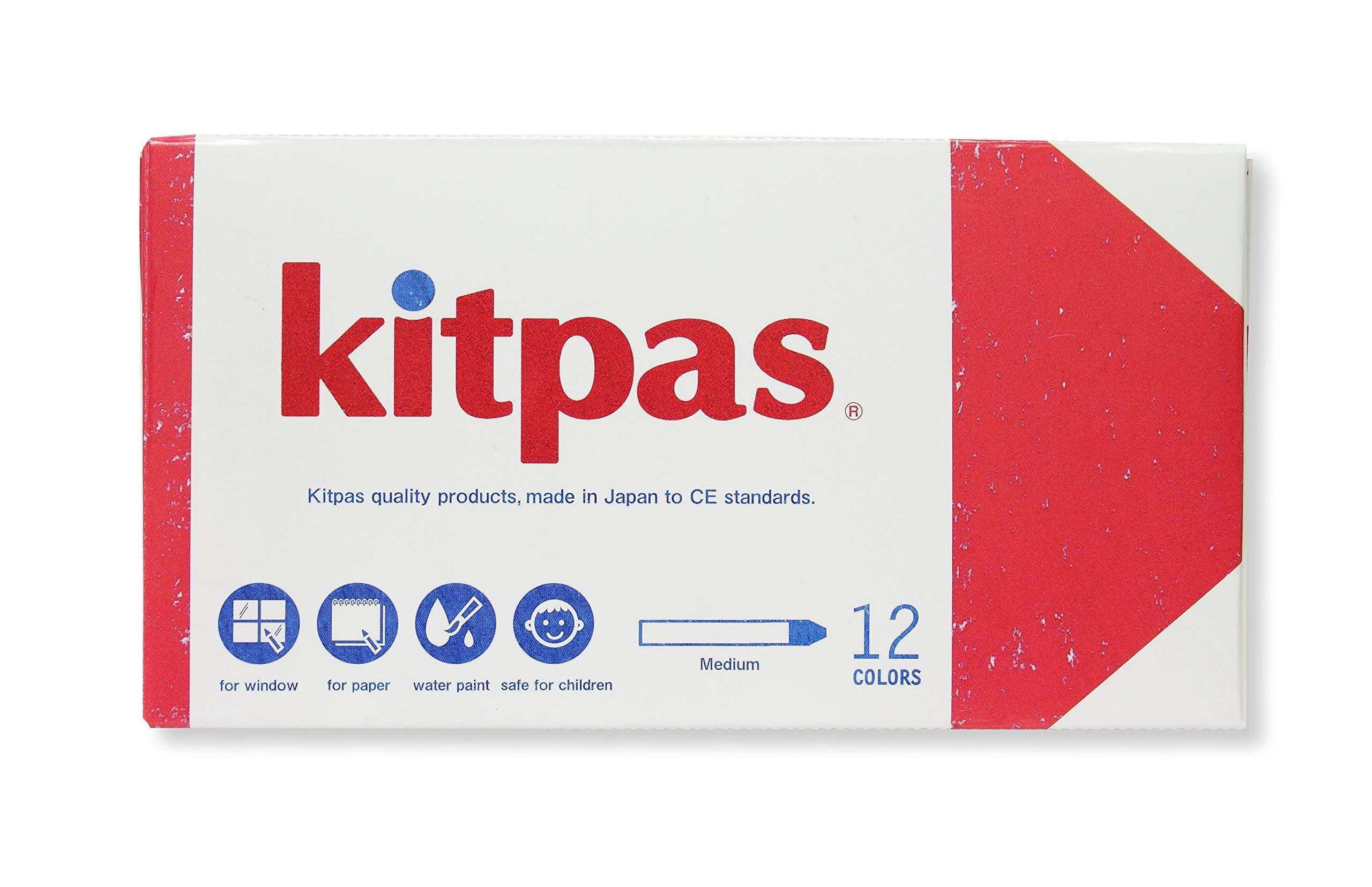 Kitpas Art Crayons Large 12 colors