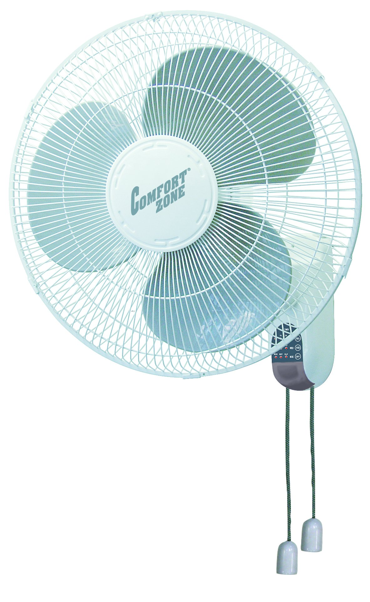 Comfort Zone CZ16W Oscillating 16-inch 3-Speed Wall-Mount Fan White with Adjustable Tilt by CCC COMFORT ZONE