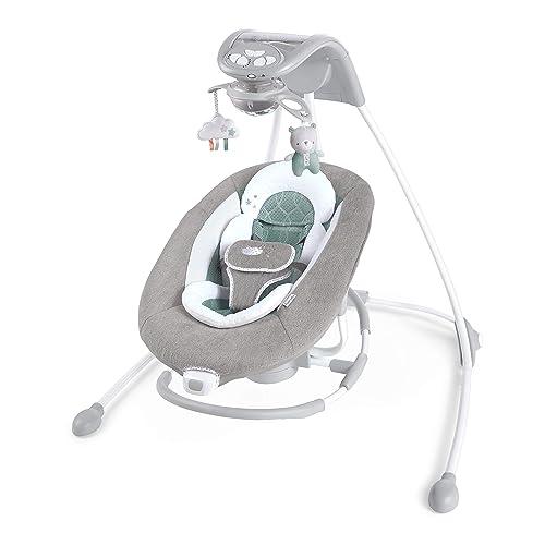 Ingenuity DreamComfort Inlighten Cradling Swing and Rocker - Best Cradle Swings for Baby