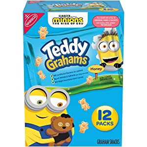 Teddy Grahams Honey Graham Snacks, 12 Snack Packs