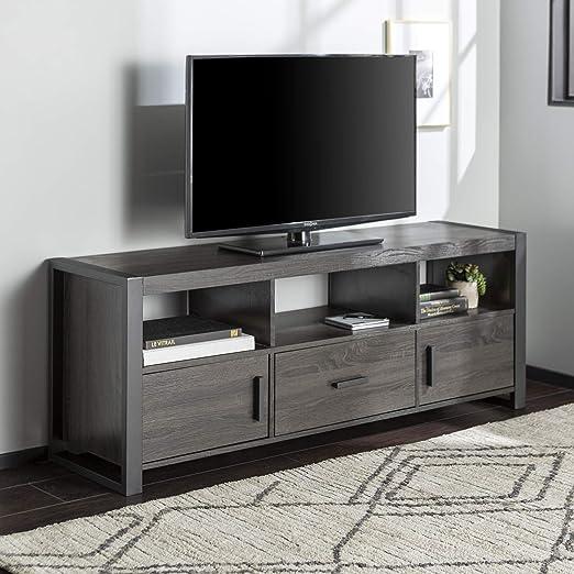 Amazon Com Walker Edison We Furniture Tv Stand Charcoal 60 Inch Furniture Decor