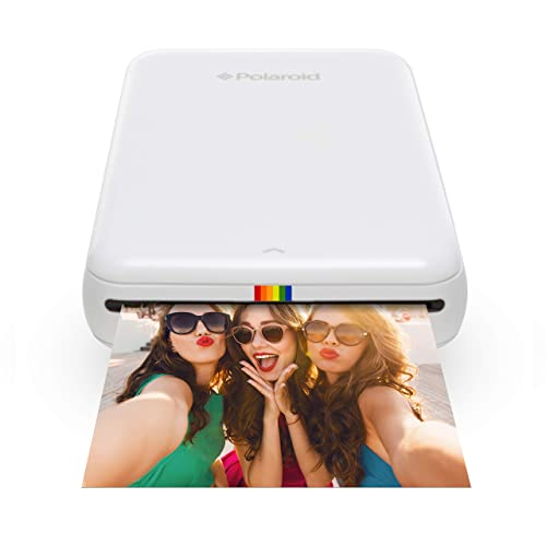 Polaroid ZIP Wireless Mobile Photo Mini Printer – Compatible with iOS and Android, NFC and Bluetooth Devices - White
