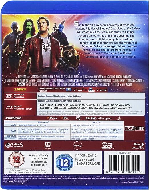 Guardians of the Galaxy Vol.2 3D BD Blu-ray 2017 Region Free ...