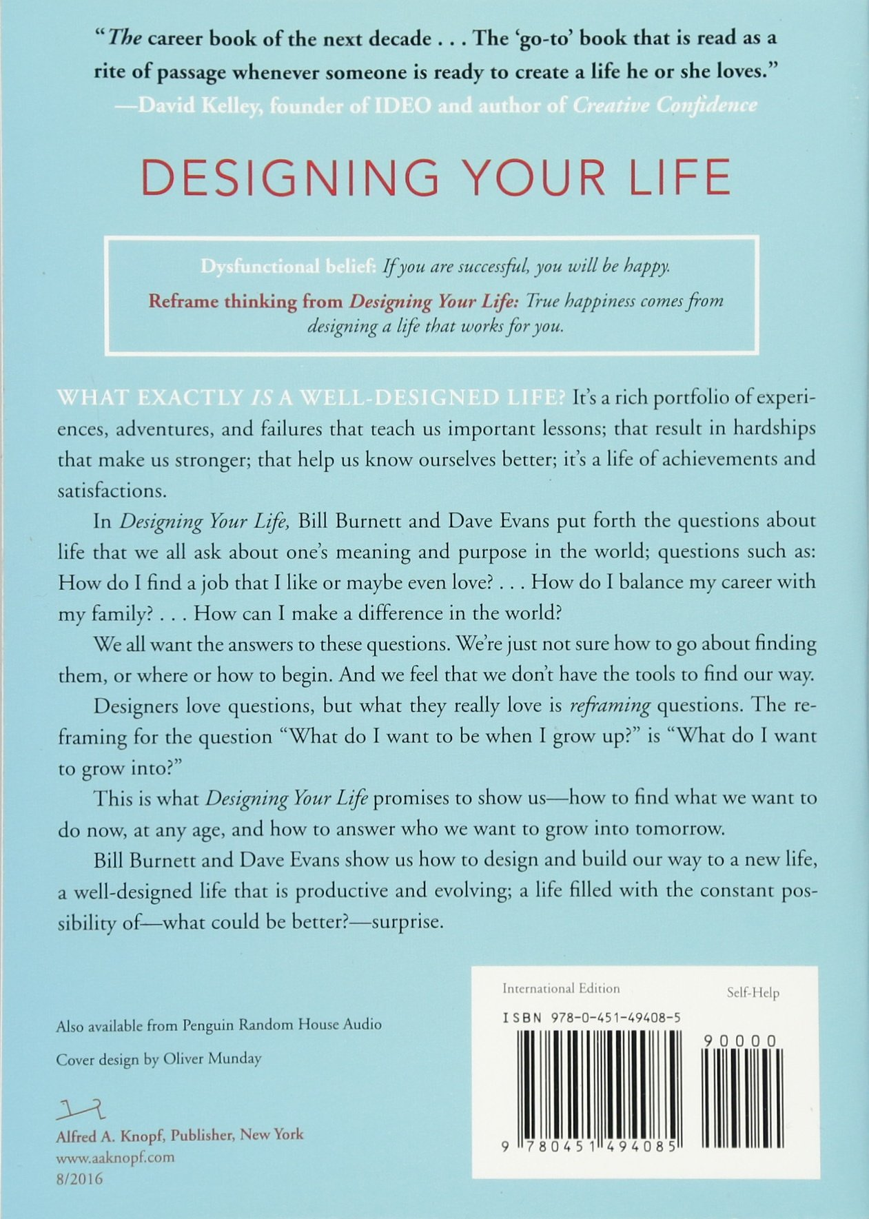 Designing Your Life How To Build A Well Lived Joyful Life How To Bill Burnett Dave Evans Amazon De Bucher