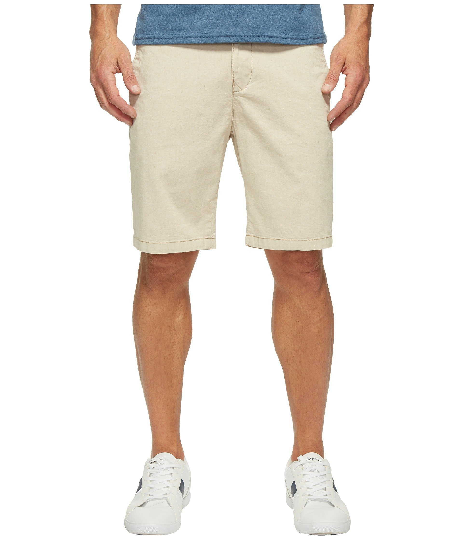 34 Heritage Men's Nevada in Beige Dot Twill Beige Dot Twill Shorts by 34 Heritage (Image #1)