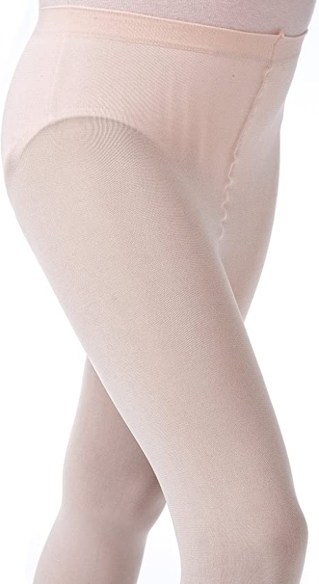 Danskin 607 Girl/'s Size Large 12-14 Light Toast Compression Footed Tights