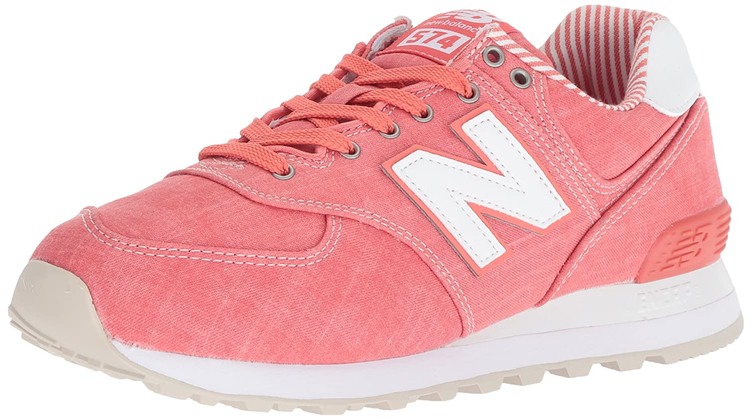 New Balance Women's 574v2 Sneaker B0751FL32N 5.5 D US|Spiced Coral/White