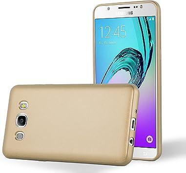 Cadorabo Funda para Samsung Galaxy J7 2016 en Metallic Oro ...