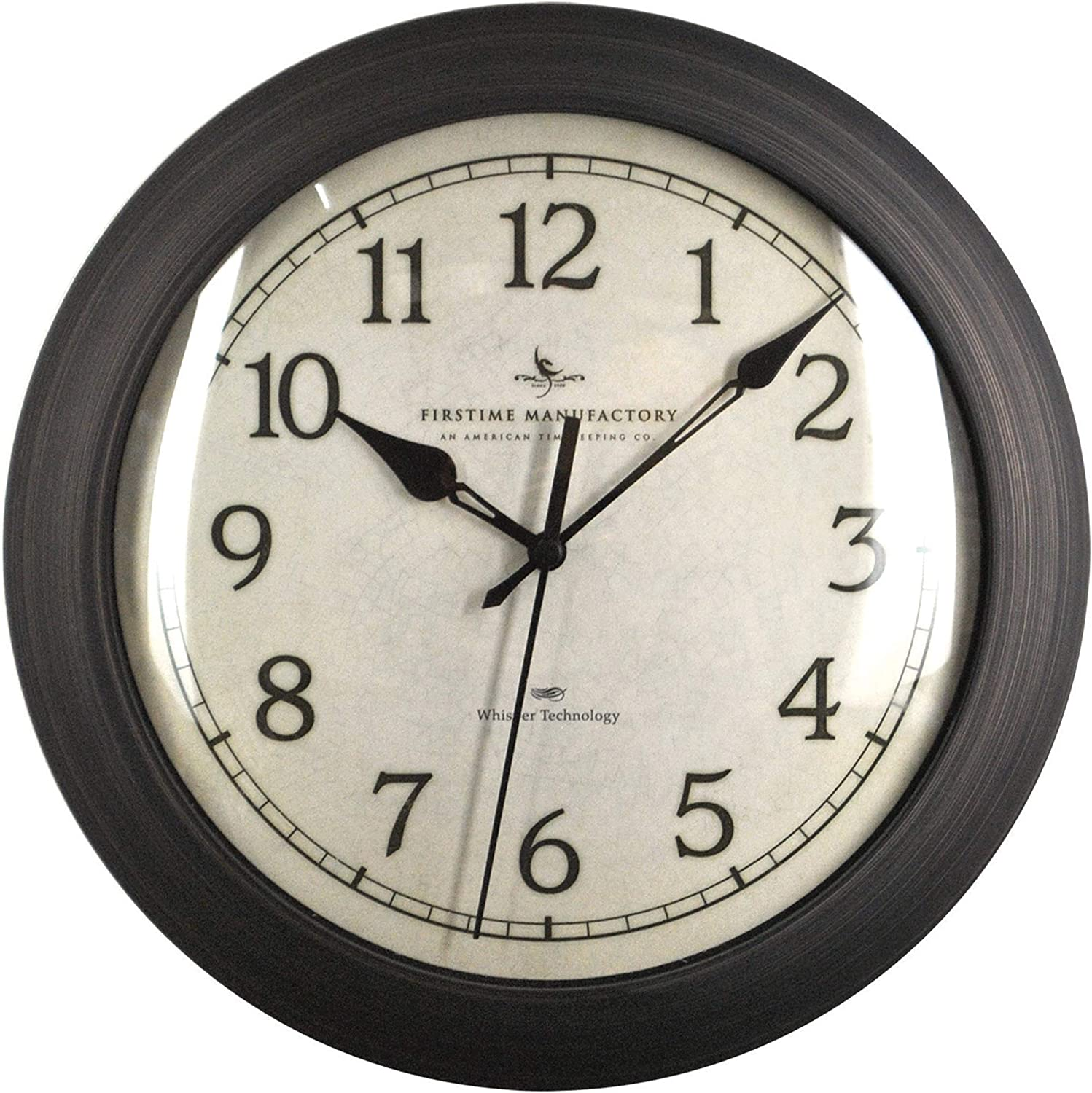 FIRSTIME MANUFACTORY WHITE ALLEGRI OUT DOOR//INDOOR WALL CLOCK