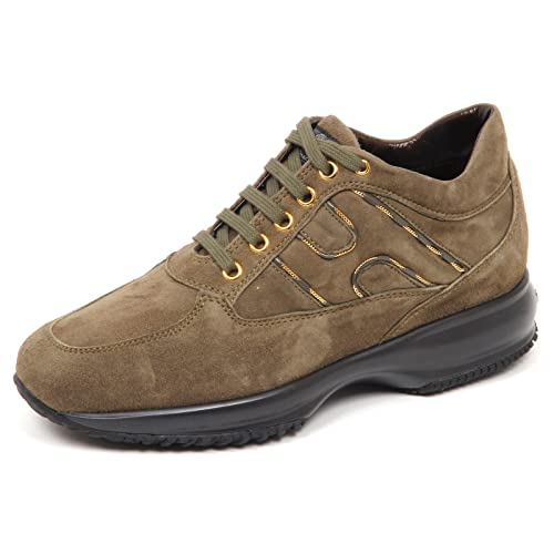E4510 sneaker donna green HOGAN INTERACTIVE scarpe suede shoe woman