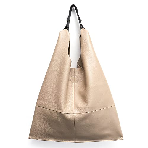 8bb8acc349 Women s Handbag Stephiecathy Genuine Leather Hobo Slouch Shoulder Bag Large  Casual Soft Tote Bags Ladies Vintage