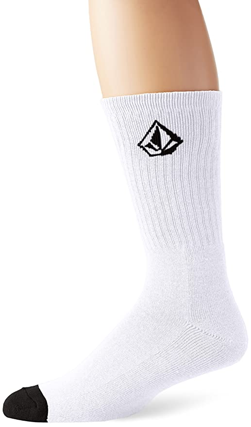 Volcom Full Stone Calcetines, Hombre, Blanco, O/S