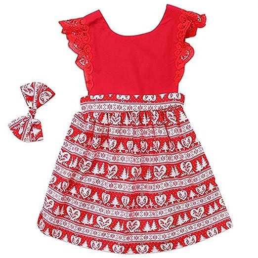 AR-LLOYD Baby Girls Christmas Dress Romper Bodysuit +Headband Outfits  (Red2, 1 - Amazon.com: AR-LLOYD Baby Twins Sisters Ruffle Lace Side Sleeve Tree