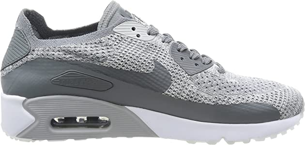 Men's Air Max 90 Ultra 2.0 Flyknit, Pure PlatinumCool Grey White, 11 M US