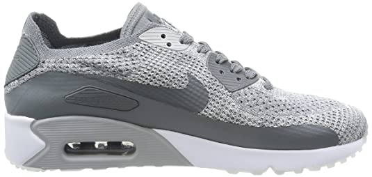 Nike AIR MAX 90 Ultra 2.0 Flyknit Mens Running Shoes 875943 003_9.5 Pure PlatinumCool Grey White Wolf Grey