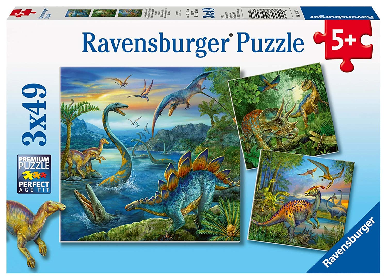 Ravensburger - Puzzle Dinosaurios de 49 piezas (27.5x19.2 cm) (9317): Amazon.es: Juguetes y juegos