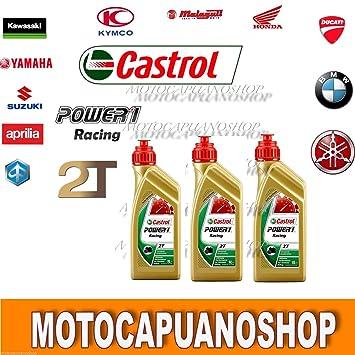3Lt Aceite mezcla Motor moto Castrol Power 1 Racing 2T 100 sintético ...