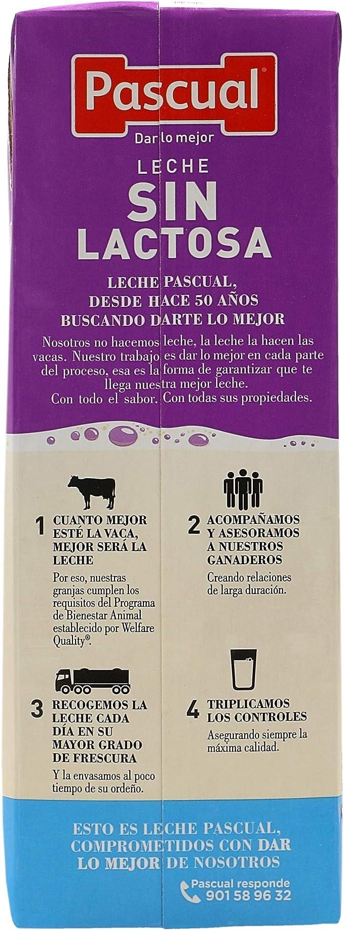 Leche Pascual - Sin Lactosa Semidesnatada - 1 L