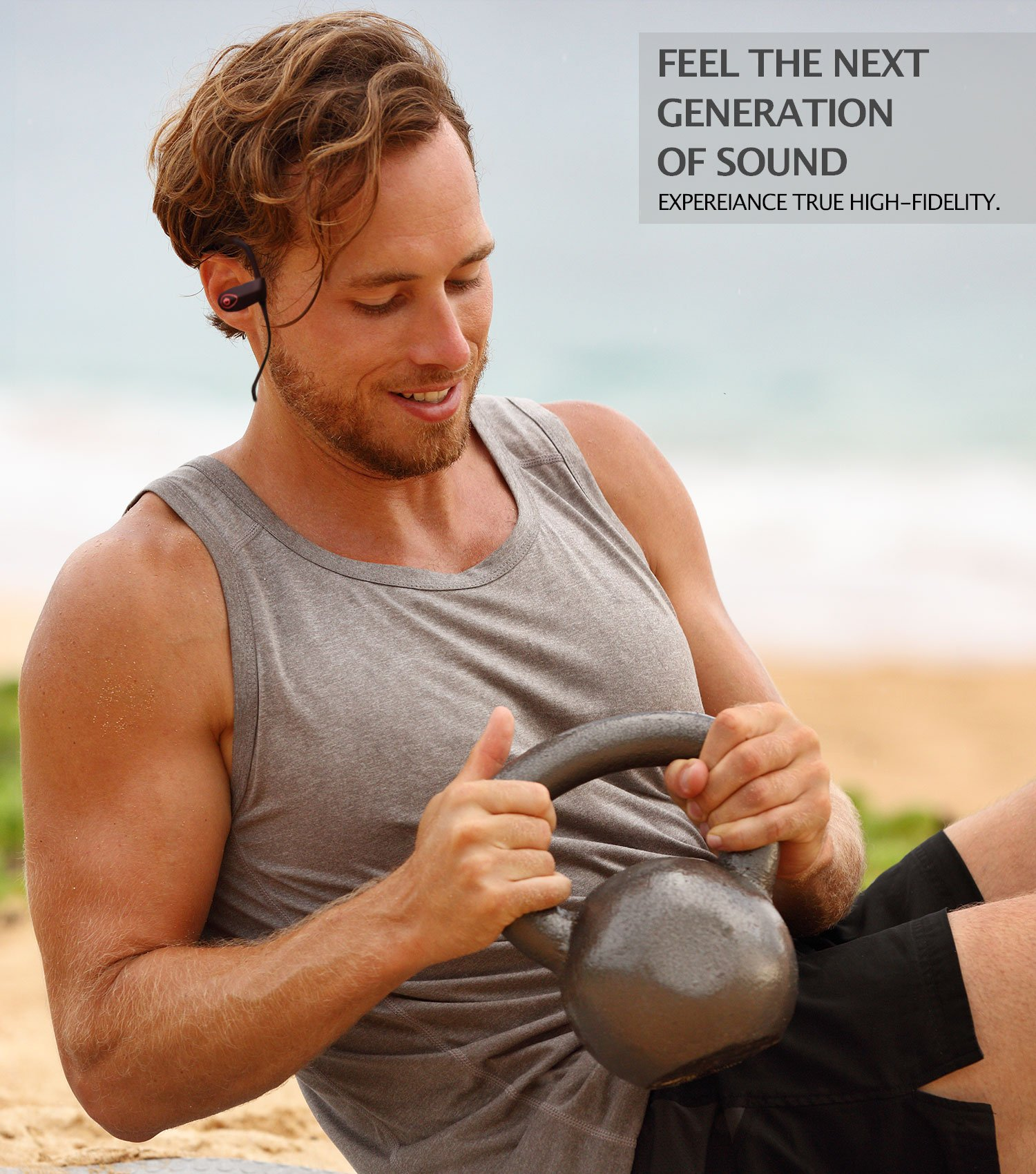 ONE DAY SALE!! - MX10 Bluetooth Iphone Headphones - Ear Buds Wireless Headphones - Designed For Running and Sport Workouts - Built-in Microphone With Noise Cancellation - IPX7 WaterProof by MultiTed (Image #5)