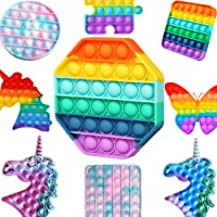 Pop it Pıtpıt Push Pop Bubble Özel Pop Zihinsel Duyusal Stres Rahatlatıcı Oyuncak Spia (Altıgen Gökkuşağı)