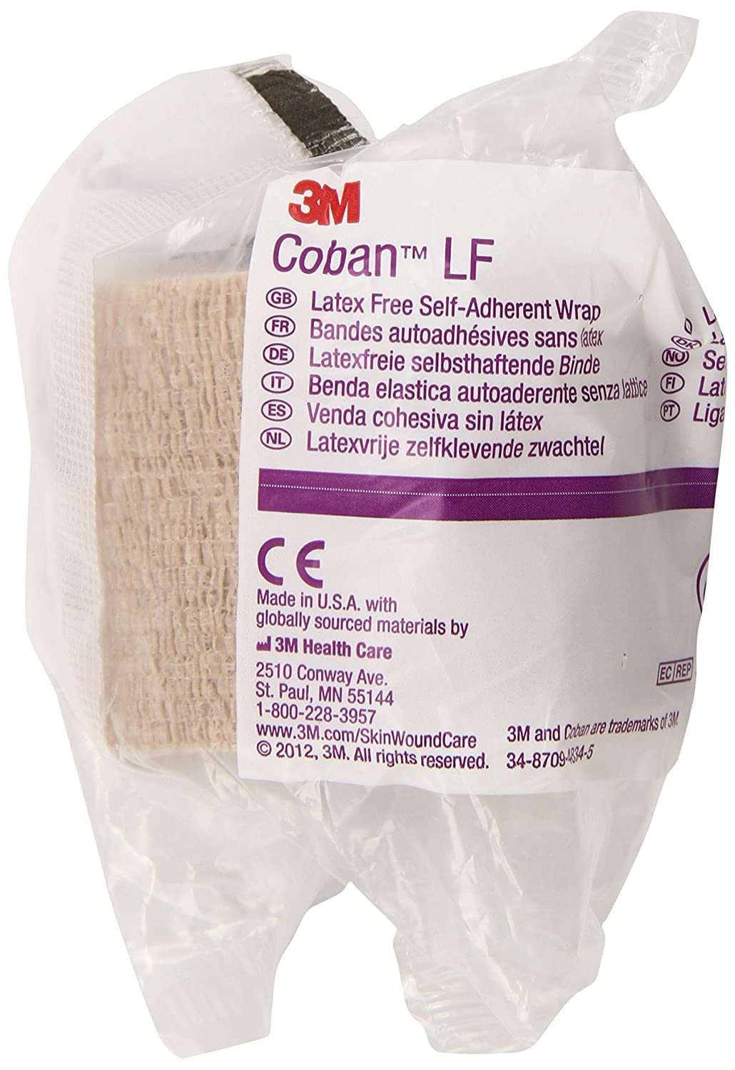 3M Coban LF Latex Free Self-Adherent Wrap 2082 (Pack of 36)
