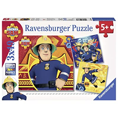 Ravensburger Fireman Sam Jigsaw Puzzle (3 x 49 Piece): Toys & Games