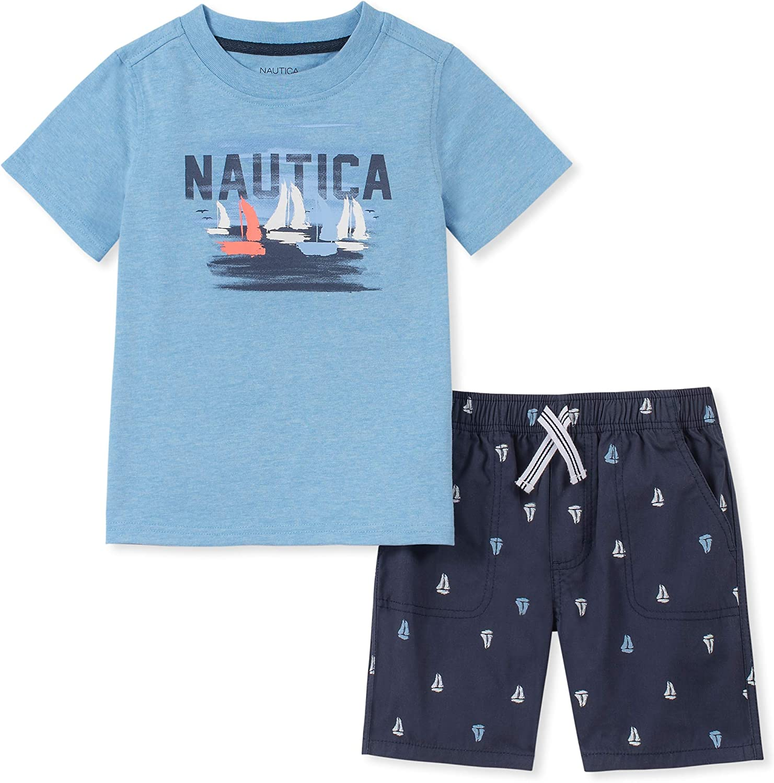 Nautica Boys 2 Pieces Shorts Set