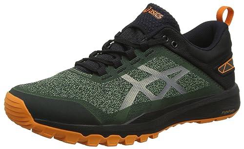 zapatillas asics hombre running verde
