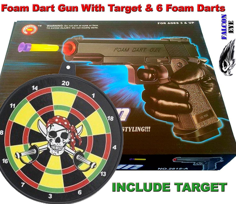 Amazon.com: Foam Dart Gun with 6 Foam Darts: Toys & Games
