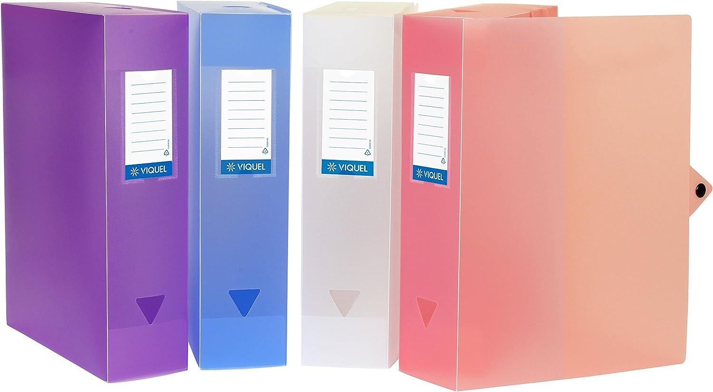 Viquel Class Docs propysoft/ dorso di 80/mm colori assortiti /Set di 6/scatole da archivio in polipropilene