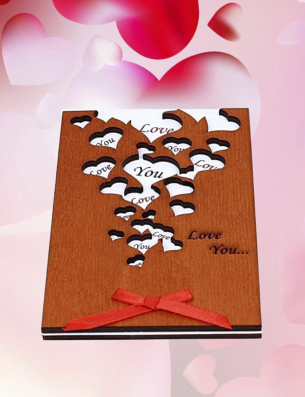 Amazon Handmade Love You Many Hearts Real Wood Greeting Card