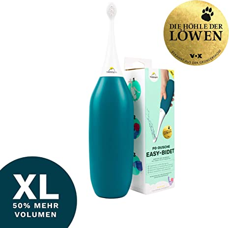 Petrol Happy Po Easy-Bidet XL Soft Saves Paper Known from The Lion Cave with 50/% More Volume Limited Edition Replaces Wet Wipes /& Shower Toilet