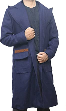 Fantastic Beasts and Where to Find Them Newt Scamander Cosplay Trench Wool Coat